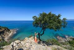 Akamas und Mädchen Zypern 2 stockbilder