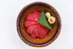 Akami Don : Japanese Steamed Rice Topping with Tuna Served with Wasabi and Prickle Ginger and Miso Soup Royalty Free Stock Photos