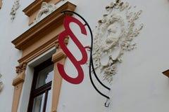 Akapitów znaki na ścianie Obrazy Royalty Free