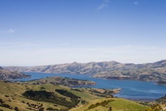 Akaroa bay in New Zealand Royalty Free Stock Image