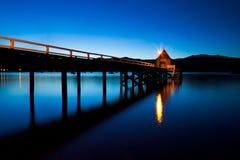 Akaroa Hafen lizenzfreie stockfotos