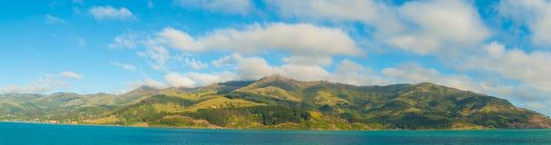 Akaroa Harbour panorama, New Zealand Stock Image
