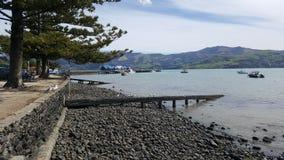 Akaroa histórico Nueva Zelanda Imagen de archivo libre de regalías