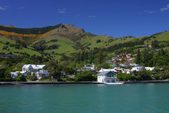 Akaroa landscape Stock Photos