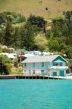 Akaroa, Neuseeland Stockfotos