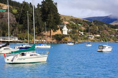 Akaroa, New Zealand Stock Photo