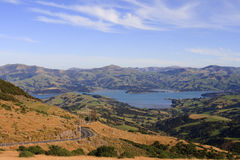 Akaroa New Zealand Stock Photo