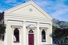 The Gaiety Theatre , Akaroa, New Zealand. Akaroa, New Zealand - 27 August 2016: The Gaiety Theatre , Akaroa, New Zealand is the town s main theatre and gathering royalty free stock photos