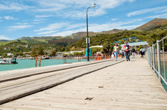 Akaroa, Nova Zelândia foto de stock royalty free