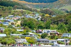 Akaroa, Nueva Zelandia Imagenes de archivo