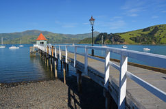 Akaroa Pier, Canterbury New Zealand Stock Images