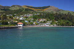Akaroa village Royalty Free Stock Photography
