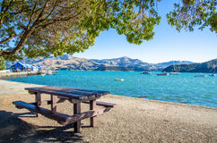 Akaroa which is located at the south island of New Zealand. Stock Image