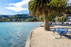 Akaroa which is located at the south island of New Zealand. Royalty Free Stock Images