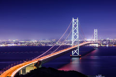 Akashi-Brücke von Japan Stockfotografie