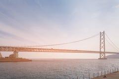 Akashi Kaikyo η μακρύτερη γέφυρα αναστολής Στοκ φωτογραφίες με δικαίωμα ελεύθερης χρήσης