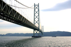 Akashi Kaikyo Bridge Royalty Free Stock Photography
