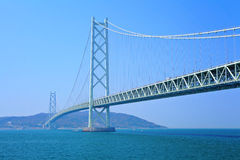 Akashi Kaikyo Bridge in Japan Royalty Free Stock Photos