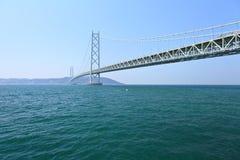 Akashi Kaikyo bridge in Japan Royalty Free Stock Image