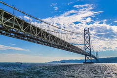 Akashi-Kaikyo Bridge in Kobe Stock Photos