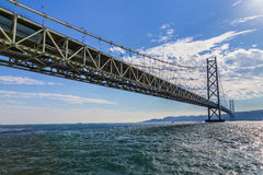 Akashi-Kaikyo Bridge in Kobe, Japan Stock Photography