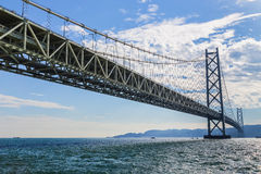 Akashi-Kaikyo Bridge in Kobe, Japan Stock Image