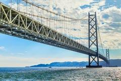 Akashi-Kaikyo Bridge in Kobe, Japan Royalty Free Stock Photography