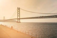 Akashi Kaikyo Bridge in Kobe Japan Stock Photo