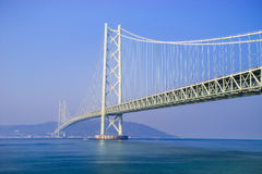 Akashi Kaikyo Bridge, Kobe, Japan Stock Images
