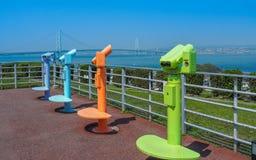 Akashi-kaikyo bridge lookout Royalty Free Stock Image