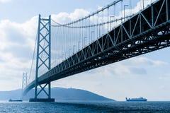 Akashi-Kaikyo Bridge Stock Photography