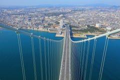 Akashi Kaikyo bridge view about Kobe Royalty Free Stock Photo