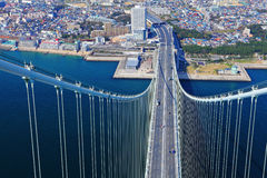 Akashi Kaikyo bridge view about Kobe from top Stock Photos