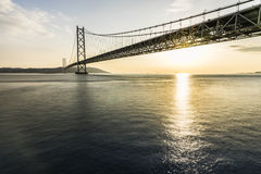 Akashi Kaikyo Bridge Royalty Free Stock Images