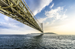 Akashi Kaikyo Bridge Royalty Free Stock Photography