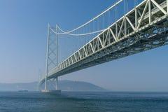 Akashi Kaikyo most, światowy długi zawieszenie metalu most fotografia royalty free