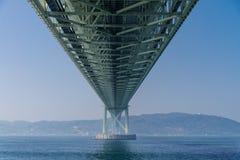 Akashi Kaikyo most, światowy długi zawieszenie metalu most zdjęcie royalty free
