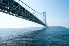 Akashi Kaikyo most, Kobe, Japonia obraz royalty free
