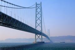 Akashi Kaikyo most, Kobe, Japonia zdjęcia royalty free