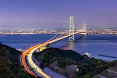 Akashi Kaikyo Ohashi Bridge Royalty Free Stock Images