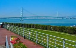 Akashi-kaikyo suspension Bridge Stock Images