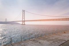 Akashi the longest suspension bridge Royalty Free Stock Photography