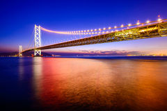 Akashi Okashi Bridge Royalty Free Stock Images