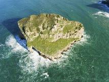 Akatxa island, Bermeo, Bizkaia royalty free stock image
