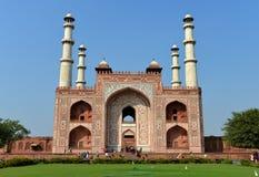 Akbar坟茔的南门极大 免版税图库摄影