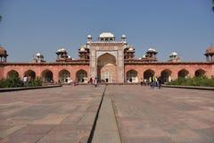 Akbar ` s grobowiec, Sikandara, Agra, India Zdjęcia Stock