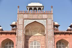 Akbar ` s grobowiec, Sikandara, Agra, India Zdjęcia Royalty Free