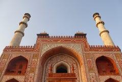 Akbar Tomb i Sikandra, nära Agra, Uttar Pradesh stat, nordliga Indien royaltyfria foton