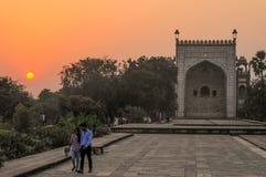 Akbar Tomb in Sikandra, near Agra, Uttar Pradesh state, northern India, Asia stock image