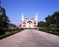 Akbars Mausoleum, India. Stock Image